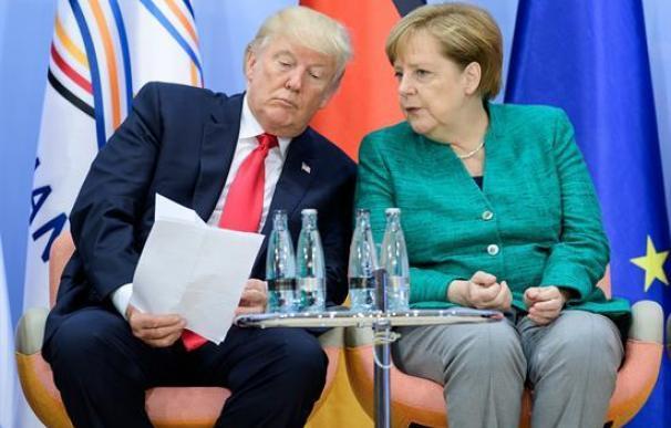 Donald Trump y Ángela Merkel firman tablas en la reunión del G20
