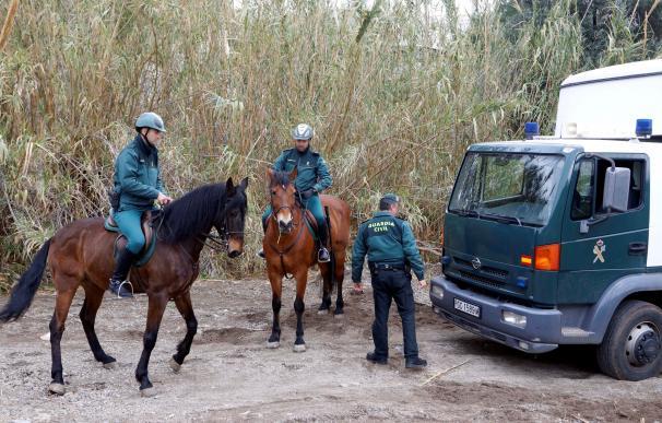 Agentes de la Guardia Civil participan en la búsqueda de Gabriel Cruz, el niño de 8 años desaparecido el pasado martes en Las Hortichuelas (EFE/Ricardo Garcia)