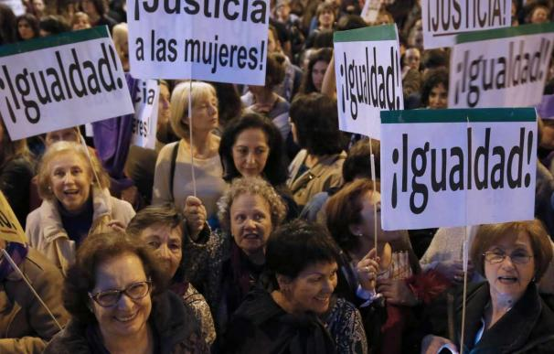 Mujeres en una manifestación por la igualdad.