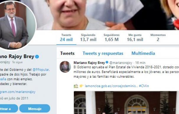 Twitter de Mariano Rajoy.
