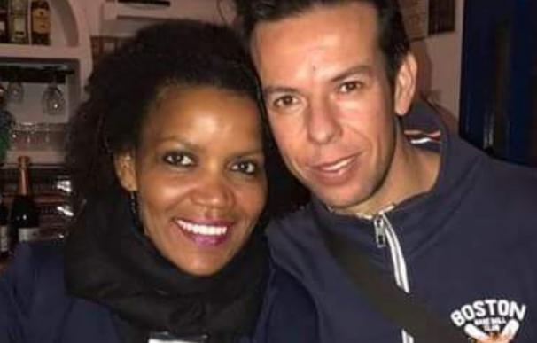 El padre de Gabriel Ruiz y su pareja, Ana.