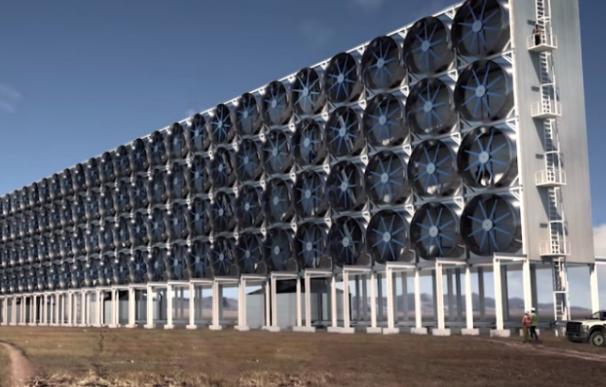 Recreación de una de las futuras plantas de Carbon Engineering.