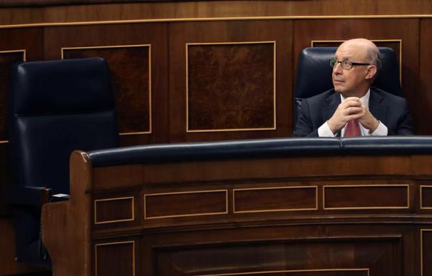 Cristóbal Montor, en la sesión al control al Gobierno de este miércoles.