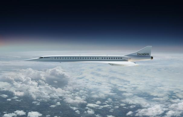 Fotografía del 'Boom Airliner' de Boom Supersonic.