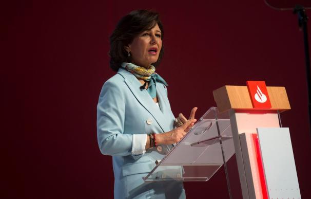 Ana Botín, presidenta de Banco Santander, en la Junta de Accionistas