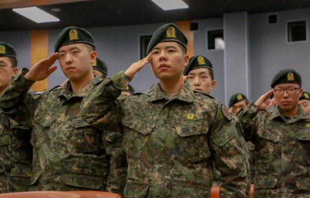 Fotografía de soldados surcoreanos.