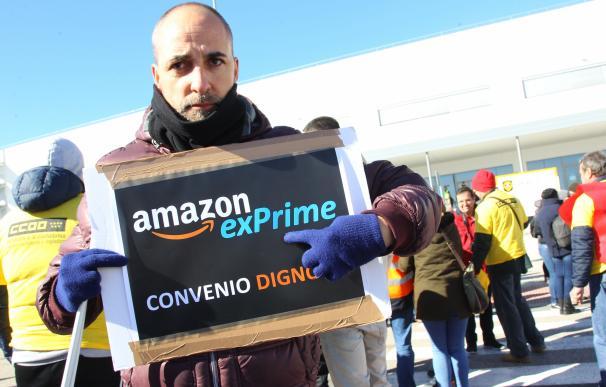 Huelga de los trabajadores de Amazon en España
