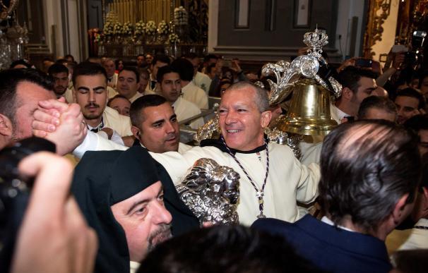 Antonio Banderas disfruta con Pasíón de la Semana Santa