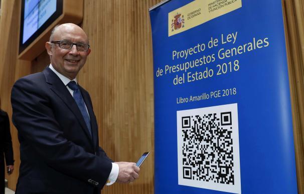 Cristóbal Montoro con Presupuestos 2018