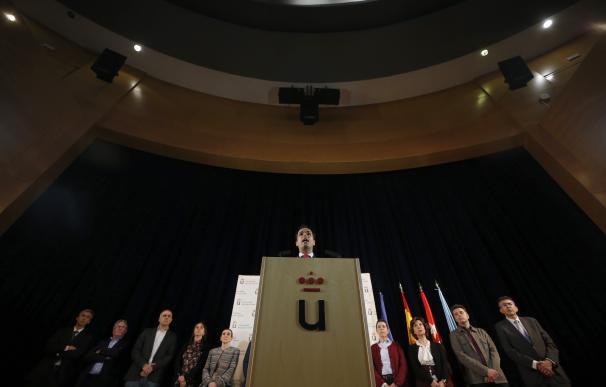 El rector de la Universidad Rey Juan Carlos, Javier Ramos, durante su declaración