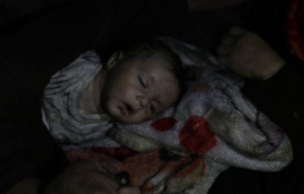 Una de las imágenes de las víctimas difundidas por los Cascos Blancos (@SyriaCivilDef)