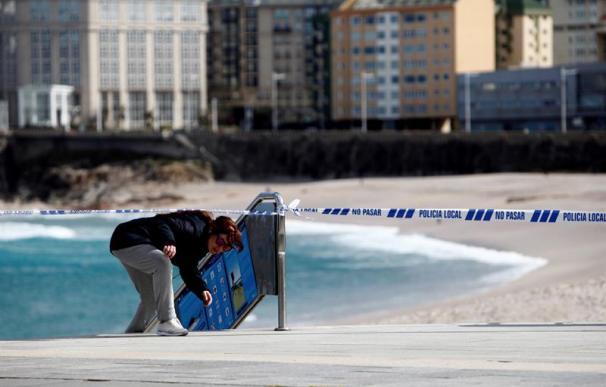 Fotografía de la playa del Orzán en A Coruña.