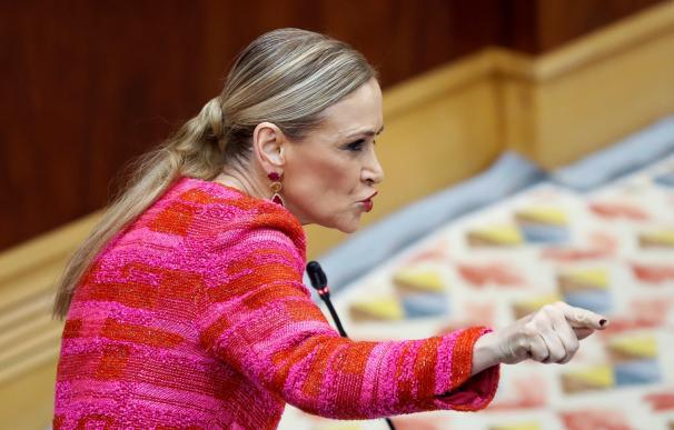 Cristina Cifuentes, durante la Asamblea de Madrid