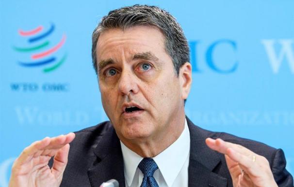 Roberto Acevedo, director general de la OMC este jueves.