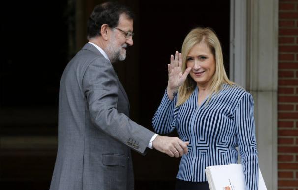 Mariano Rajoy y Cristina Cifuentes en La Moncloa