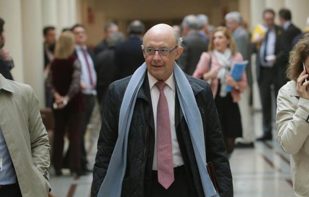 Cristóbal Montoro, este martes en el Senado.
