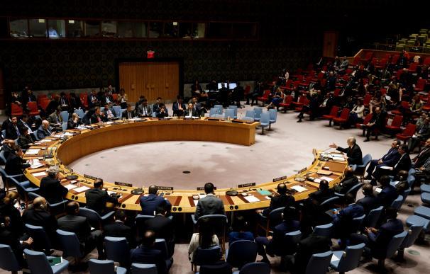Una imagen de la reunión de la ONU tras el ataque
