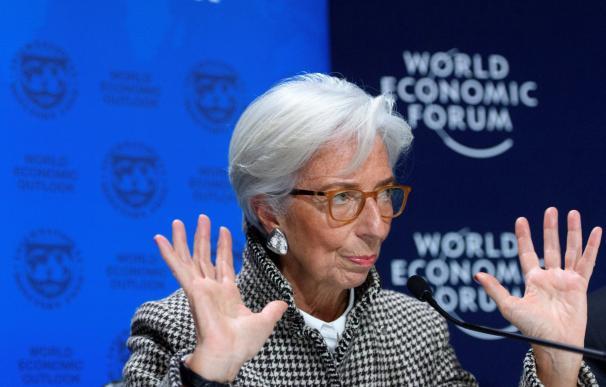 La directora gerente del FMI, Christine Lagarde, en el Foro de Davos