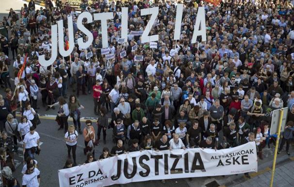 Manifestación contra las acusaciones de terrorismo.