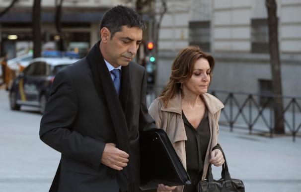 Josep Lluis Trapero a su llegada a la Audiencia Nacional
