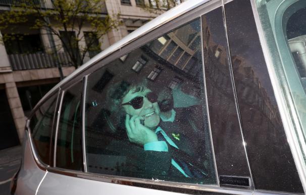 Carles Puigdemont este domingo en Berlín