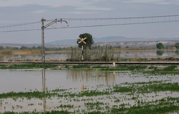 La crecida del Ebro en Aragón