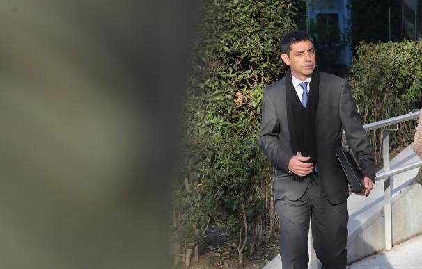 El mayor de los Mossos Josep Lluis Trapero, a la salida hoy de la Audiencia Nacional, donde la jueza Carmen Lamela le ha comunicado personalmente su procesamiento por sedición y organización criminal por el 1-O. EFE/Ballesteros