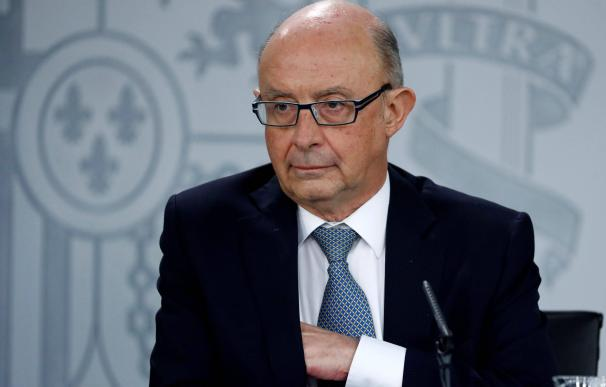 Cristóbal Montoro, ministro de Hacienda y Función Pública.