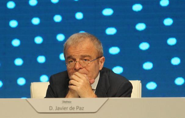 Imagen de Javier de Paz, consejero de Telefónica, durante la junta de accionistas de 2017.