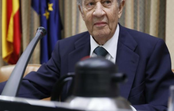 Juan Miguel Villar Mir antes en su comparecencia ante la comisión parlamentaria