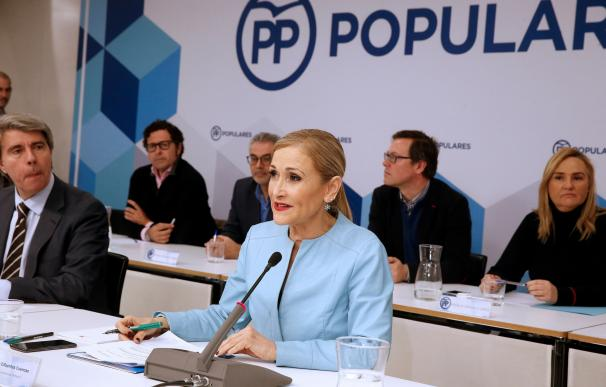 Cristina Cifuentes durante la reunión del Comité Ejecutivo del PP de Madrid
