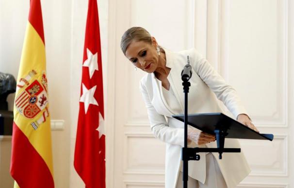 Fotografía de Cristina Cifuentes el día de su dimisión.