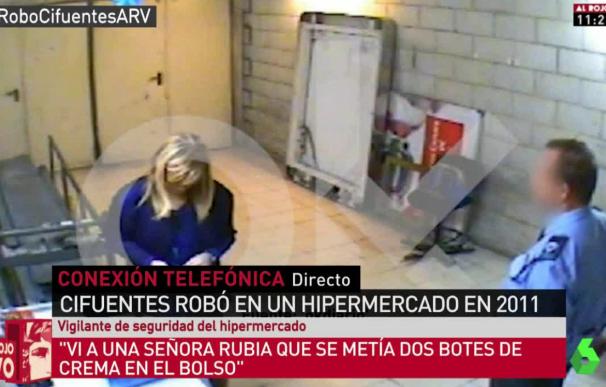 Fotografía del presunto robo de Cristina Cifuentes.
