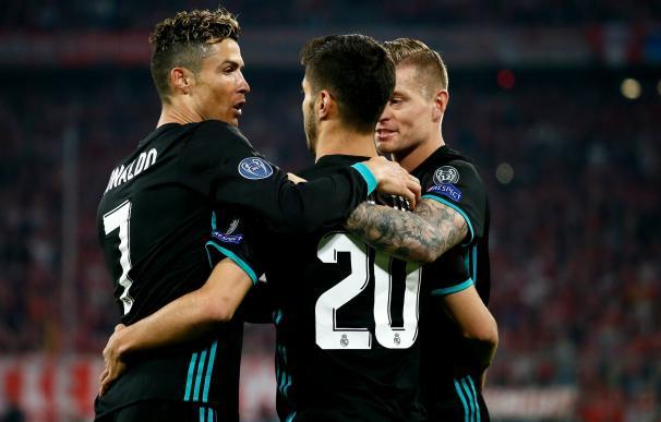 Fotografía del Real Madrid en el partido contra el Bayern de Munich