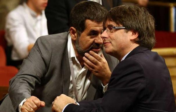 Fotografía Jordi Sànchez y Puigdemont