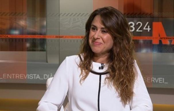 La jefa de comunicación de los Mossos durante una entrevista en televisión