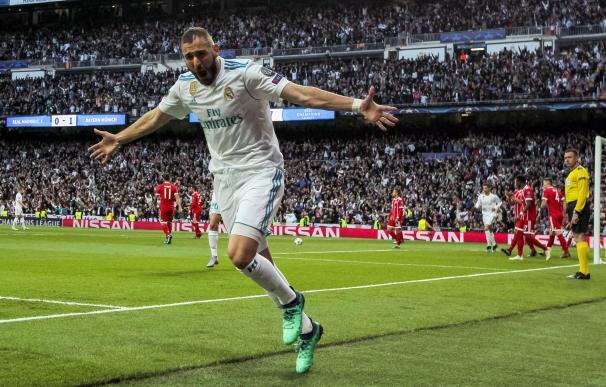 Fotografía de Karim Benzema durante el Real Madrid-Bayern