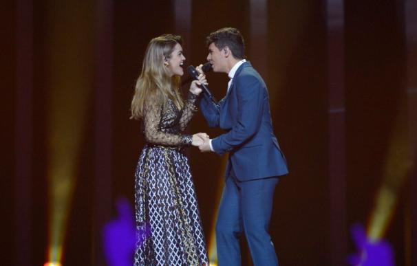 Amaia y Alfred cautivan en su segundo ensayo (Foto: @eurovision_tve)