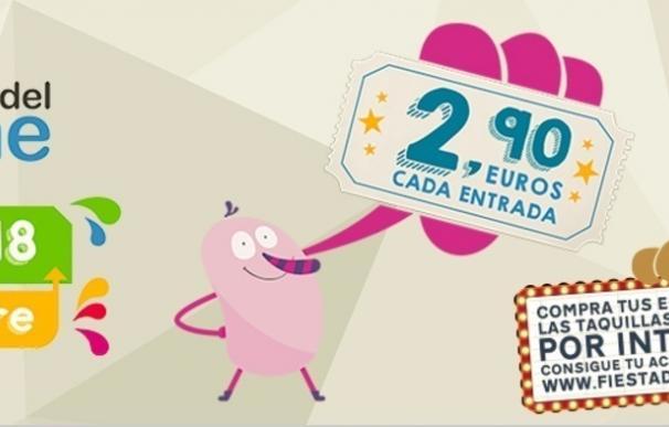 Los próximos 16, 17 y 18 de octubre se celebrará la XIII Edición de la Fiesta del Cine, con entradas a 2,90 euros