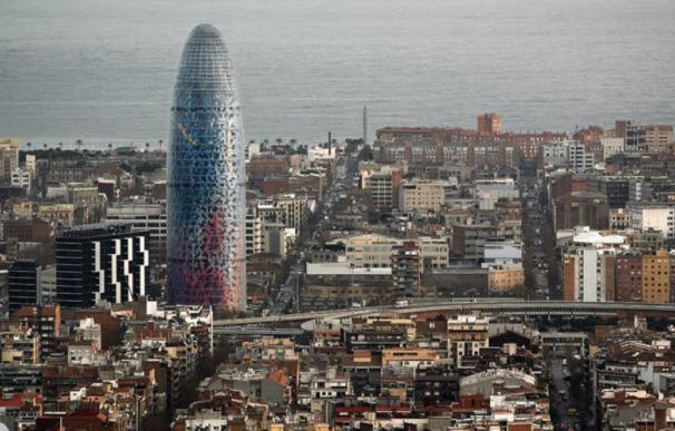 Vista de la Torre Glòries de Barcelona