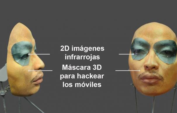 Máscara que permite hackear el iPhone X