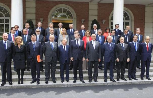 Foto Rajoy con empresarios