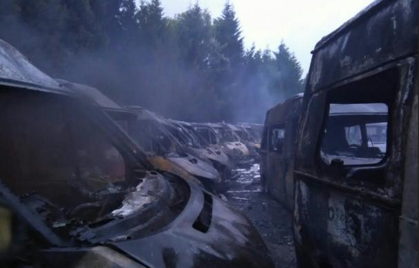 Incendio de ambulancias en Bizkaia