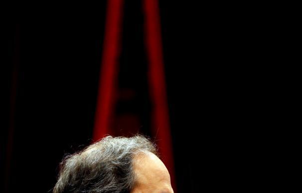 El nuevo candidato de JxCat, Quim Torra, interviene durante el pleno del Parlament que celebra la primera sesión del debate de investidura, en el que intervendrá EFE/Quique García