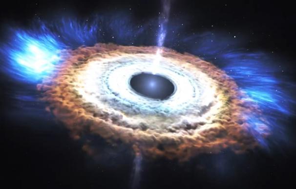 Un telescopio del tamaño de la Tierra captura un agujero negro