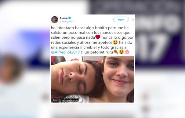 Amaia dedica un emotivo vídeo a Alfred en Twitter
