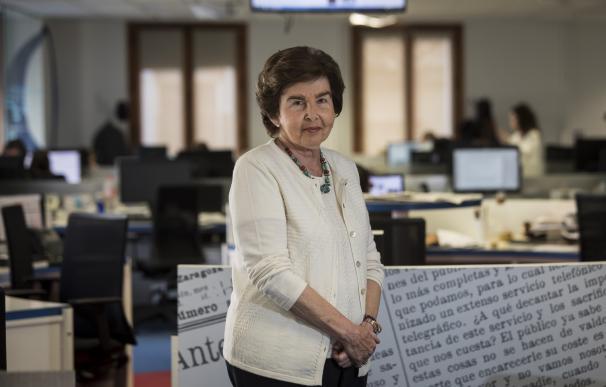 Pilar de Yarza, presidenta-editora de HERALDO, ayer, en la redacción del periódico