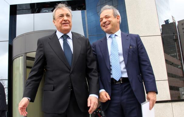 Imagen de Florentino Pérez con Marcelino Fernández Verdes.