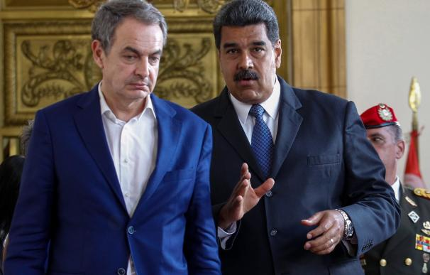 El expresidente del Gobierno español José Luis Rodríguez Zapatero se reunió con el presidente venezolano, Nicolás Maduro (EFE/Cristian Hernández)