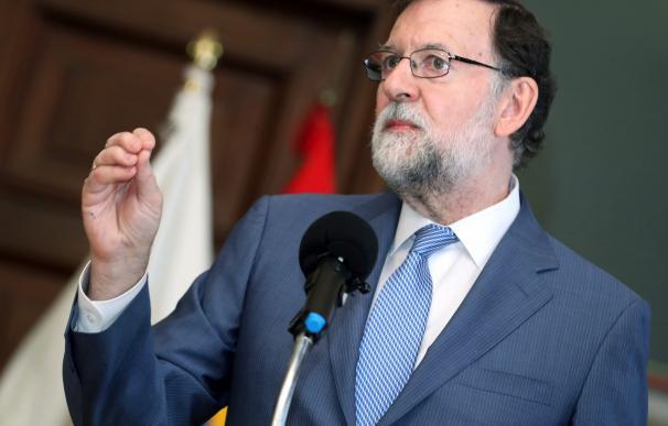 Rajoy en una comparecencia./EFE